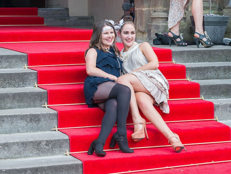 Stair Rods on red carpet