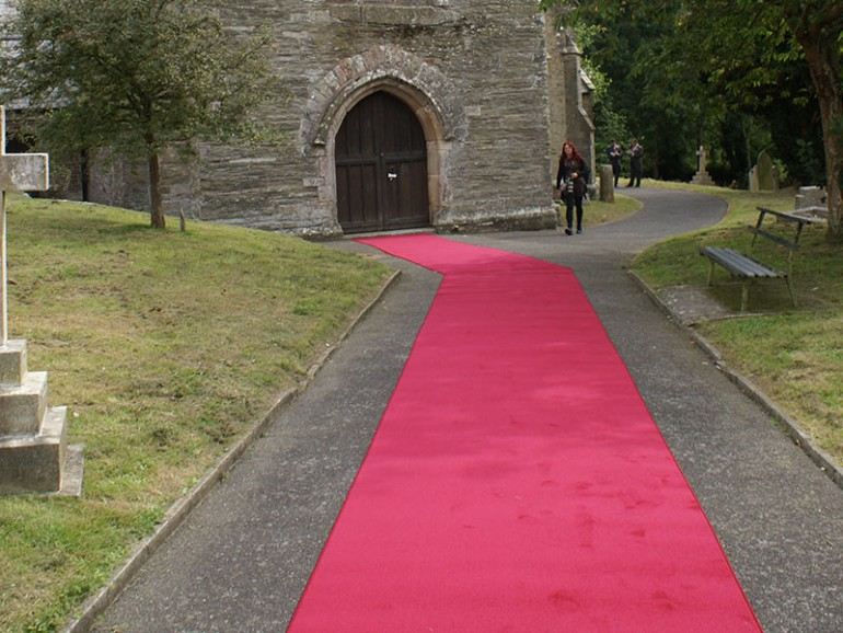 Saxony carpet for castle event