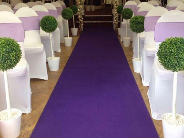 Purple Wedding Carpet