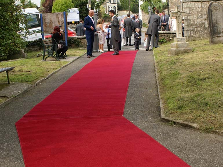 Custom Made Wedding Carpets In Any Shape Colour Or Size