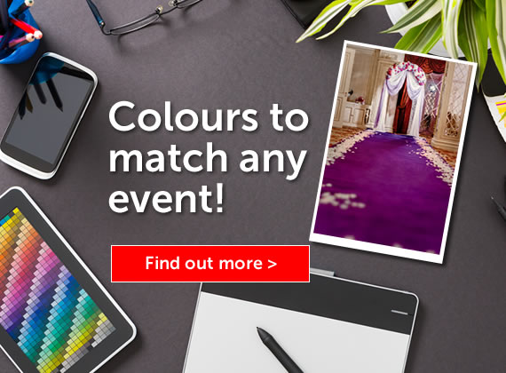 Coloured carpets for any event