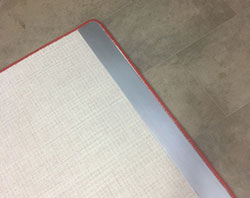 Metal Safety Carpet End Plates red trim